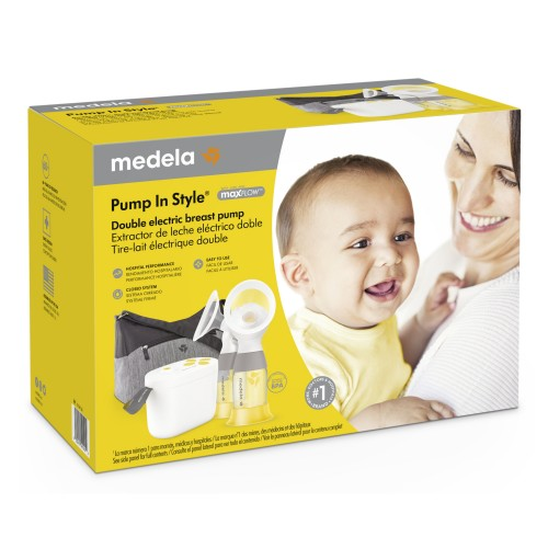 Medela Pump In Style® maxFlow™ Technology, Closed System Quiet Portable Double Electric Breastpump, with PersonalFit Flex™ Breast Shields