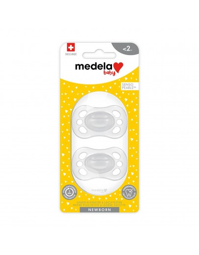 Nouvelle sucette NOUVEAU-NÉ Medela Baby, extra légère et petite, sans BPA - Sucette pour bébé 0-2 mois – Emballage de 2