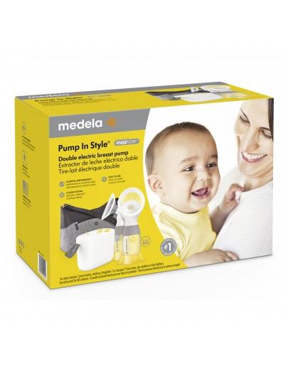 Medela Pump In Style® avec technologie maxFlow ™, Tire-lait portatif électrique double silencieux à système fermé, avec Téterelles PersonalFit Flex™